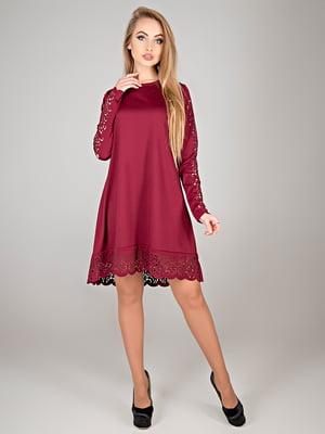 Платье бордовое | 5772645
