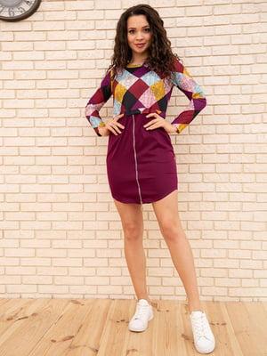 Сукня комбінованого кольору в ромби   5773237