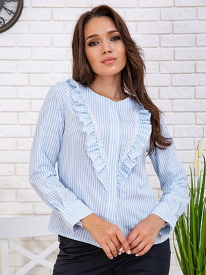 Рубашка голубая в полоску | 5773290