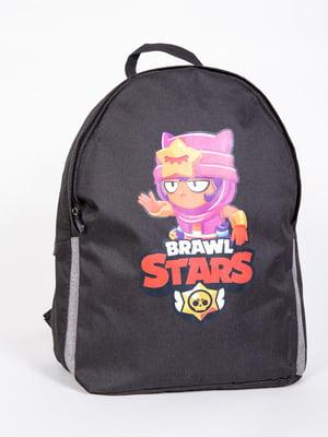 Рюкзак чорний в принт   5773297