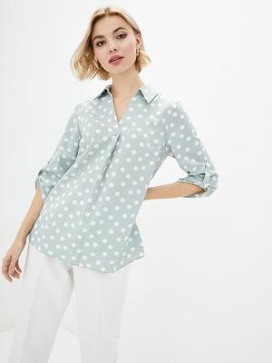 Блуза блакитна в горошок   5772123