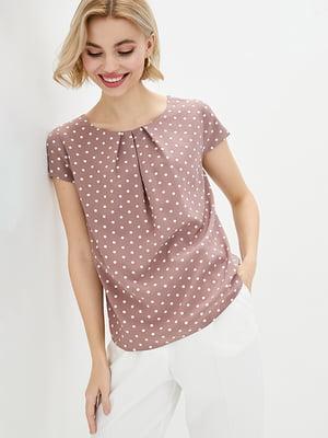 Блуза бежевая в горошек | 5772126