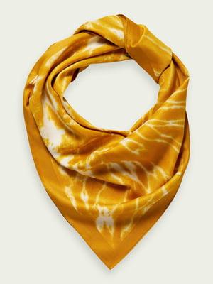 Хустка яскраво-жовта у принт | 5771136