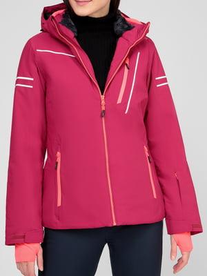 Куртка лыжная малинового цвета | 5608060