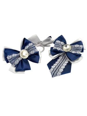 Набір резинок для волосся (2 шт.) і краватка-метелик | 5774803