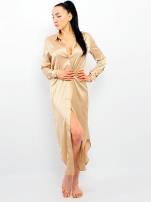Платье домашнее бежевое   5775038