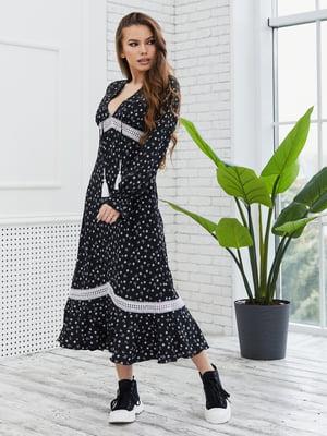 Платье черное в принт | 5775323