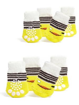 Шкарпетки жовто-білі з малюнком для собак мініатюрних порід   5775494