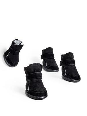 Чоботи чорні для собак середніх порід   5775517