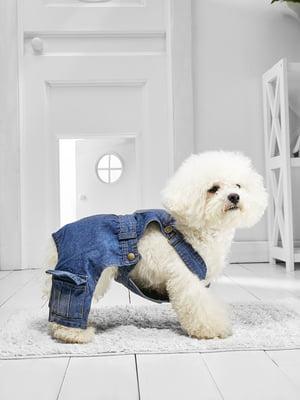 Комбінезон синій джинсовий для собак маленьких порід   5775786