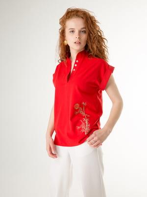 Блуза червона з малюнком   5776833