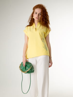 Блуза жовта з малюнком | 5776834