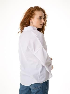 Блуза белая с рисунком   5776835