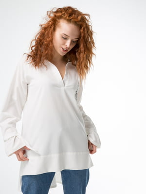 Блуза-туніка біла з малюнком | 5776840