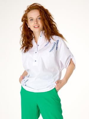 Блуза белая с рисунком   5776848