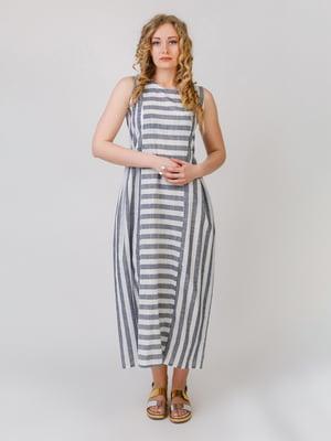 Сукня двоколірна в смужку | 5776900