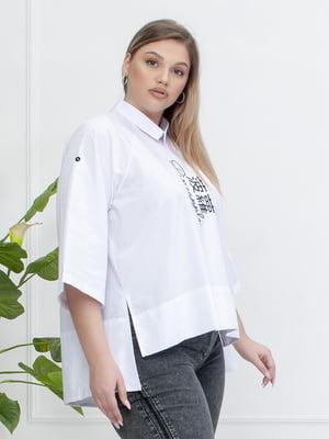 Блуза біла з малюнком | 5776903