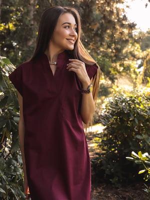 Платье винного цвета | 5776863