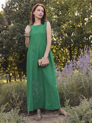 Сукня зелена з малюнком | 5776882