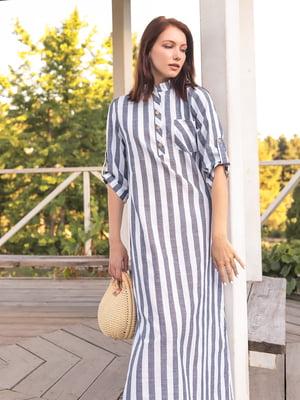 Платье двухцветное в полоску | 5776884