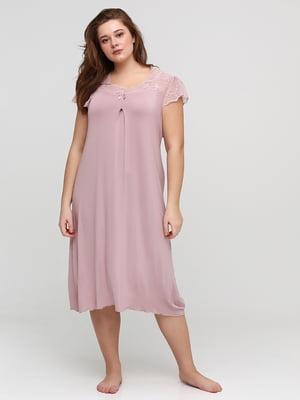 Рубашка ночная розовая | 5777104