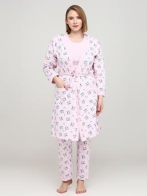 Комплект: халат, футболка и брюки   5777108
