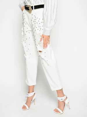 Джинси білі з декором   5776912