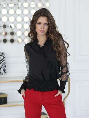 Блуза чорна з декором   5777997