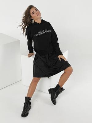 Платье черное с надписью   5778019