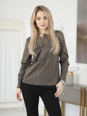 Блуза кольору хакі   5778066