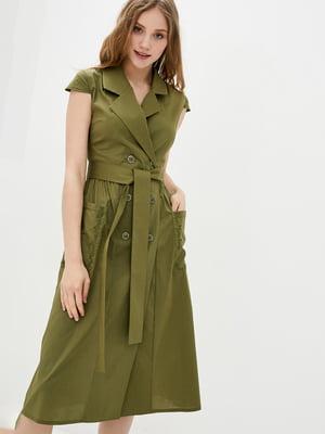 Платье цвета хаки | 5778694