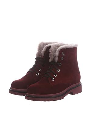 Ботинки бордовые | 5516684