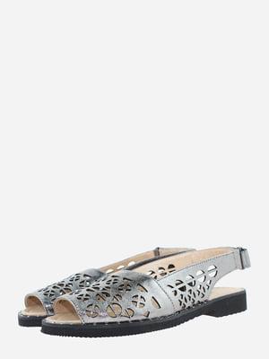 Босоніжки сталевого кольору   5703183
