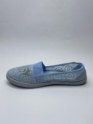 Мокасини блакитні з візерунком | 5777739