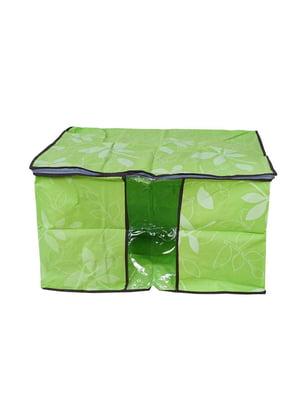 Органайзер для речей зелений в принт | 5780753