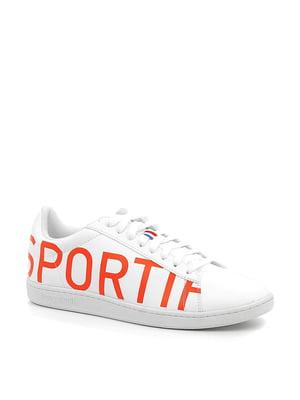 Кеды белые с логотипом | 5781593