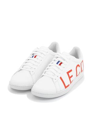 Кеди білі з логотипом | 5781594