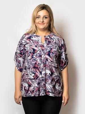 Блуза разноцветная в принт   5781667