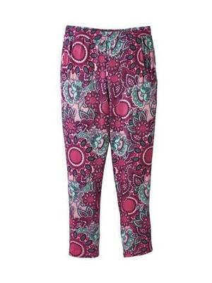 Брюки розовые в цветочный принт   5780332