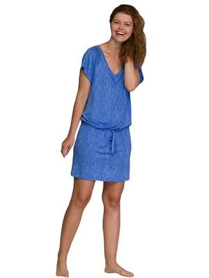 Сукня синя в принт | 5782246
