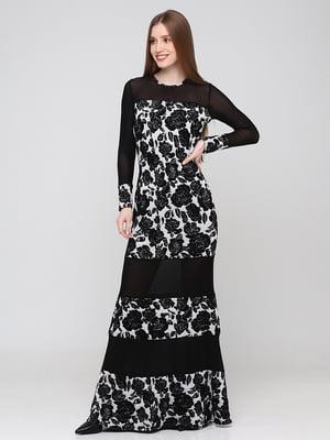 Сукня чорна з візерунком   5783312