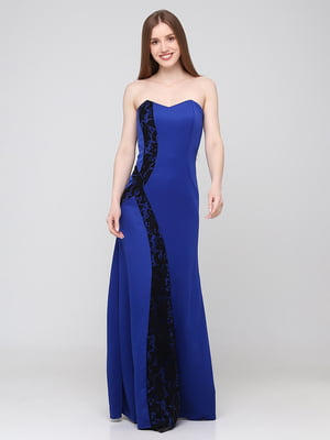 Сукня синя з візерунком   5783370