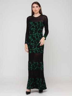 Сукня зелена з візерунком   5783425