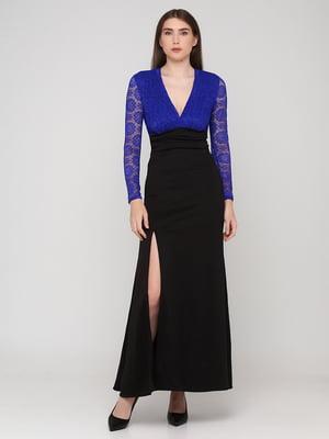 Сукня двоколірна з візерунком   5783438