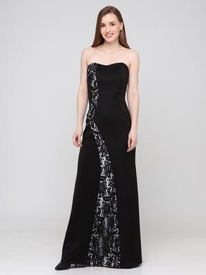 Сукня чорна з візерунком   5783511