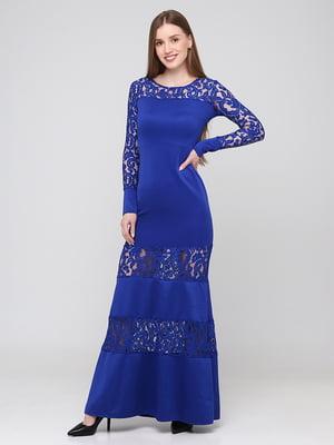 Сукня синя з візерунком   5783517
