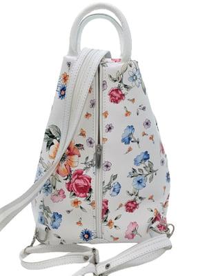 Рюкзак білий в принт | 5780510