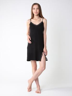 Сорочка нічна чорна | 5785870