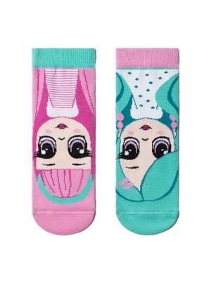 Шкарпетки комбінованого кольору в принт | 5698462