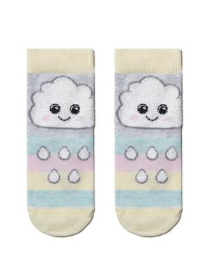 Шкарпетки комбінованого кольору з малюнком і в смужку | 5698631